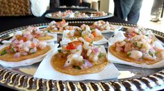 Catering A Wedding At The Plaza At Cabrillo Marina: Once vows were exchanged, we fired up appetites with these refreshing 'ceviche de camarones' appetizers.  More info: http://www.sohotaco.com/2014/09/27/catering-a-san-pedro-wedding-at-the-plaza-at-cabrillo-marina  #tacocatering #sanpedro #lafoodies