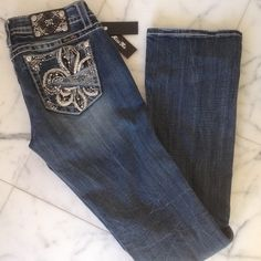 NWT Miss Me Bootcut Jeans Size 29 Brand New with Tag Ladies Miss Me Blue Denim Slim Bootcut Jeans  Size 29 with a inseam of 34 Miss Me Jeans Boot Cut