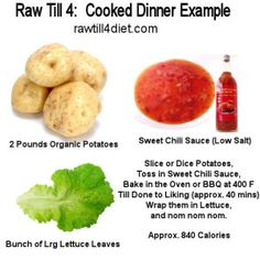 Raw Till 4 Day One Cooked Dinner - Raw Till 4 http://rawtill4diet.com/raw-till-4-diet-plan/raw-till-4-day-one-cooked-dinner/