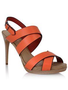 Orange heels from Charles & Keith