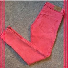 Pink Stretch Jeans/Jeggings Slightly used pink 'Red Concept' stretch jeans/jeggings with gold ankle zippers from H&M. In great condition! I purchased these from another posher and I love them but they are too small for me. So cute! H&M Pants