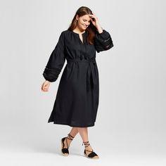 Women's Plus Size Beach Caftan - Who What Wear Black 1X