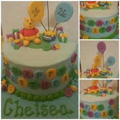 Winnie the Pooh birthday cake!! search girlie girl sweets on facebook