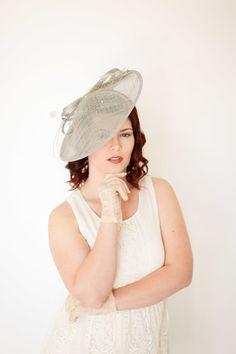 7b01ffce01cef Gray Fascinator Black Derby Hat Tea Party Hat Church Hat Grey Fascinator