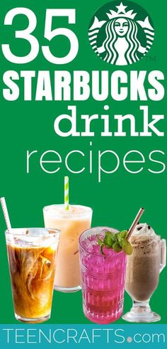 Starbucks Drink Recipes - Coolers, Latte, Mocha and Iced Coffee Drinks - Starbucks Recipe Copycats to Make at Home - Frozen Frappucino, Coolers and Coffees -How To Make The Best Latte, Coffee, Copycat Frappuccino - Healthy Versions Of Starbucks Drinks - Iced Beverages, Refreshers, How To Make Hot Coffee Like Starbucks - Unicorn Frappuccinos, Mocha, Caramel Macchiato, White Chocolate Frappe #teencrafts #diyideas #diystarbuck Starbucks Oreo Frappuccino, Best Starbucks Drinks, Starbucks Pumpkin Spice Latte, Starbucks Vanilla, Iced Coffee Drinks, Starbucks Recipes, Coffee Recipes, Drink Recipes, Hot Coffee