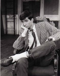 """""""Harold"""", on Broadway in Anthony Perkins, Alfred Hitchcock, Series Movies, I Love Him, Cute Boys, Broadway, Hollywood, Celebrities, People"""