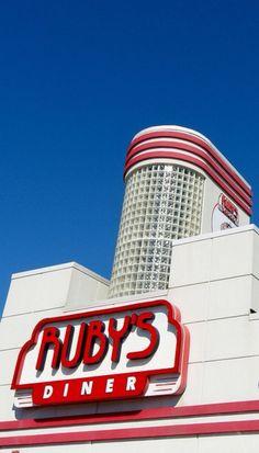 Art Deco Design Building Ruby's Diner