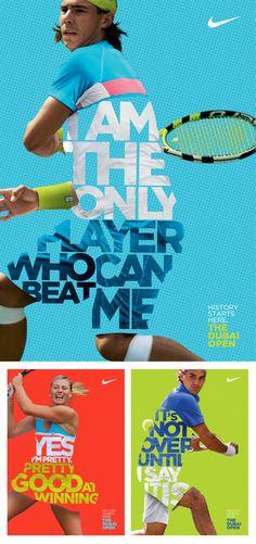 Nike posters to promote their athletes at the Dubai Open tennis tournament.