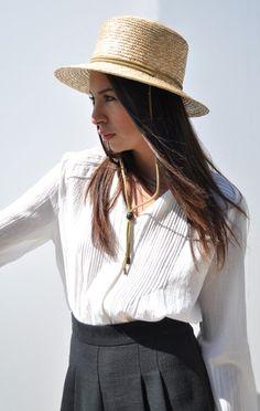 Anaïse - Clyde Flat Top Hat