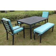 Mainstays Rockview 5-Piece Patio Dining Set, Black, Seats 6