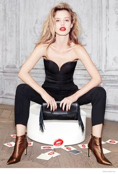 Georgia May Jagger is All Lips for Minelli, Fall 2014.
