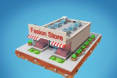 Low Poly Fashion Store Building by Low Poly Lab on @creativemarket