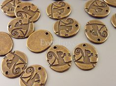 8 Squirrel animal holding nut on tree branch charms in by EverLuxe