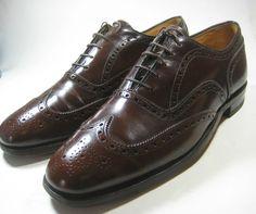 "JOHNSTON & MURPHY 8.5D ""Presidents Collection"" Brown Wingtip Vintage Shoes #johnstonmurphy #WingTip men shoes"