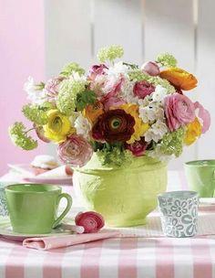 Flores de mesa