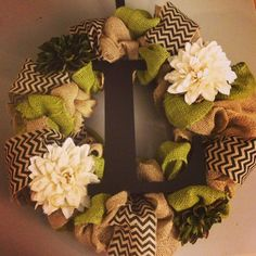 Burlap Wreath -DIY  Good for my Chevron Burlap scraps! I want to make this like yesterday.  Craft time here I come.