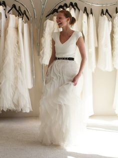 Wedding skirt & t-shirt. Casual, chic, mature