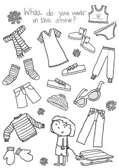 Summer Clothing- Color the items that you would wear in ...