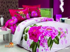 Bed Sheets Beautiful And Romantic Floral Bedding Sets DigsDigs. The Starry Night Van Gogh 1889 Comforter Set . Home and Family Colorful Bedding Sets, Girl Bedroom Designs, Bedroom Design, Green Bedding, Bed Design, Designer Bed Sheets, Interior Design Bedroom, Floral Duvet Cover, Luxury Duvet Covers