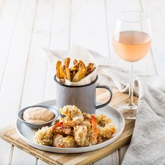 The satisfaction of the crunch is so good you can't stop eating. You can enjoy it with the smoked paprika aioli or a soy ginger dipping sauce. Aioli, The Smoke, Smoked Paprika, Stop Eating, Prawn, I Foods, Berries, Stuffed Peppers, Baking