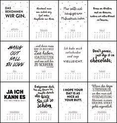 Auswahl an Kalendern zum selber ausdrucken für 2016