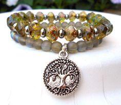 Picasso Czech Bracelet Tree of Life Bracelet by BlueStoneRiver, $31.95