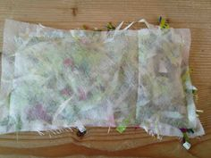 Lay a piece of water soluble fabric over the top and pin/sew round the edges.