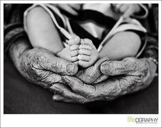 in grandma's hands
