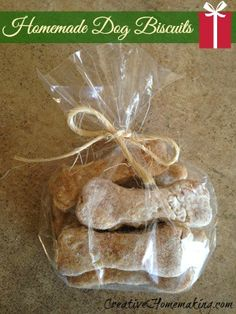 These homemade dog biscuits are an inexpensive last-minute gift for any dog lover on your holiday gift list.