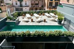 Hotel Brummell is a hip boutique hotel in Poble Sec, Barcelona. Hotel Brummell in Barcelona's Poble Sec area has stylish rooms & apartments, an arty vibe & pool. Best Boutique Hotels, Best Hotels, Outdoor Spaces, Outdoor Living, Outdoor Decor, Porches, Barcelona Hotels, Barcelona Spain, Barcelona Apartment
