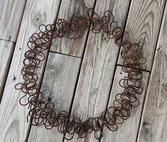 Rusty Crusty Salvage Wire Handmade Wreath by TymelessTrinkets