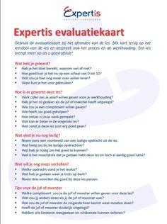 Expertis Evaluatiekaart