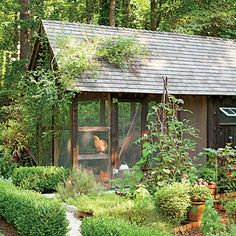 Notice the Details: The Coop - Dream Garden! It Even Has a Chicken Coop - Southern Living