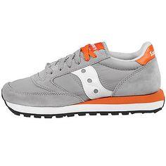 Saucony Jazz Original Mens 2044-335 Grey Orange Athletic Running Shoes Size 13