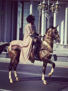 Turkmen horseman.