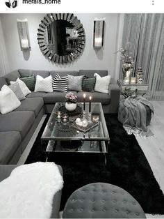 10 Comfortable and Cozy Living Rooms Ideas You Must Check! - Hoomble - 10 Comfortable and Cozy Living Rooms Ideas You Must Check! – Hoomble Most comfortable and cozy living room ideas Apartment Decor, Simple Living Room, New Living Room, Home, Apartment Living Room, Silver Living Room, Living Room Grey, Room Interior, Casual Living Rooms