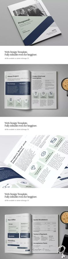 100 Best Proposal Brochure Templates Images In 2019 Invoice