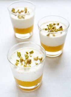 Панна котта с манго — очень вкусный и нежный итальянский сливочный десерт с манговым пюре. Состав: Манго - 1 шт. Вода - 25 мл. Листовой желатин - 1 шт. Ван