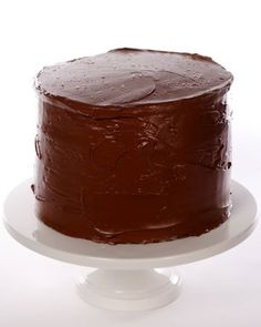 """ellow Butter Cake with Chocolate Frosting  This delicious cake recipe was adapted from """"Martha Stewart's Baking Handbook."""""""