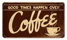 Vintage and Retro Wall Decor - JackandFriends.com - Retro Coffee Metal Sign 14 x 8 Inches, $35.97 (http://www.jackandfriends.com/retro-coffee-sign/)