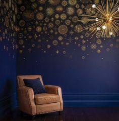 Matthew Williamson, Of Wallpaper, Designer Wallpaper, Osborne And Little, Boutique Deco, Made To Measure Curtains, Golden Star, Interior Decorating, Interior Design