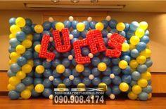 Tường bong bóng chữ LUCAS TBB011