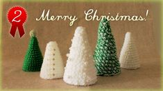 クリスマスツリーの簡単な作り方・編み方(2) 作り方詳細 diy christmas tree tutorial