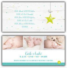 2-seitige Geburtskarten - kartendings - zauberhafte Geburtskarten & Dankeskarten