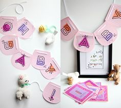 Printable Oh Baby! Pink Banner by Smallful. Make It Now with the Cricut Explore machine in Cricut Design Space.
