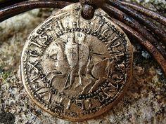 Sceau Piece des Templiers, Pendentif Rustique Homme ou Femme : Bijoux pour hommes par hdrustica