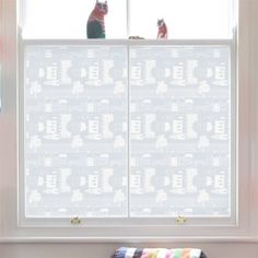 Emma Jeffs PVC-Free Window Film - Little Village at DesignPublic.com