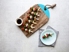 Antipasti couldn't be an easier starter if you tried. These no cook kebabs are simple and keep things fresh before the main meal. Lamb Lollipops, Easy Starters, Smoked Salmon, Canapes, Master Class, Main Meals, Picnic, Mango, Kebabs