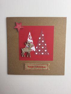 2 Ways to Make a Scandi Christmas Card #christmas #card #cardmaking #papercraft…
