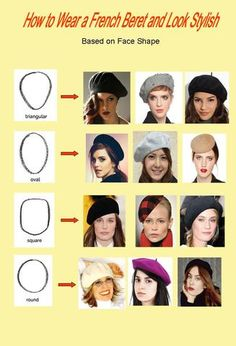 How to Wear a French Beret - fashion - Women Barett Outfit, Style Année 20, French Hat, Fashion Vocabulary, Square Faces, Wearing A Hat, Zooey Deschanel, Outfits With Hats, Mode Vintage